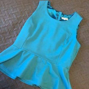Tiffany blue peplum top